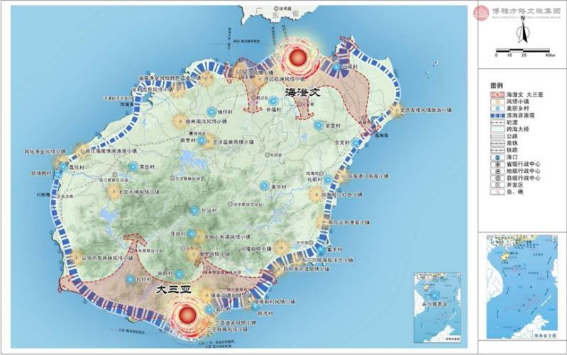 海南省全域旅游空间结构布局